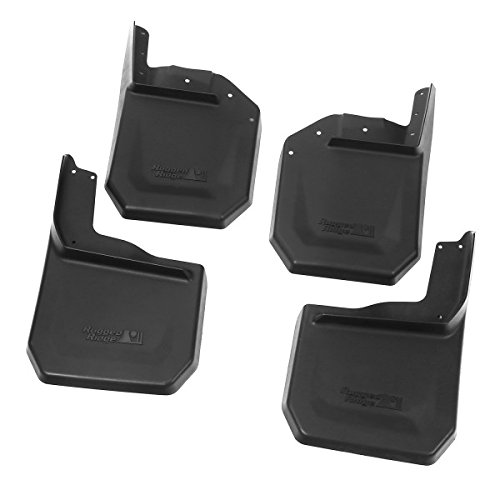 Rugged Ridge 11642.10 Black Splash Guard Kit - 4 (Ridge Four)