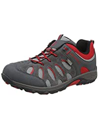 Merrell Cham Low Lace Waterproof Kids Walking Shoes UK 1 Grey Red