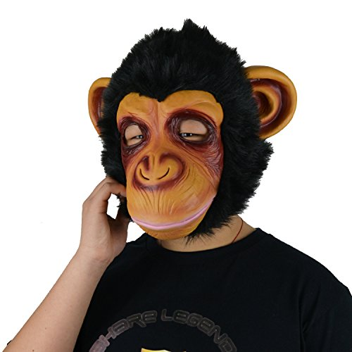 LarpGears Halloween Costume Latex Funny Gorilla Mask Animal Mask Adult Size