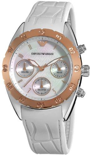 Emporio Armani Women's AR5938 Sport Silver Chronograph Dial Watch