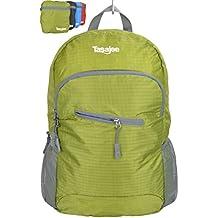 Sac à dos pliant 25L de grande qualité, ultraléger et pliable/compressible pour les randonnées, les voyages, le bagage à main en avion, le cyclisme, le gym, le camping - durable, résistant à l'eau, se plie dans un sac de rangement