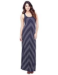 Ingrid & Isabel Women's Maternity Stripe Racerback Maxi Dress