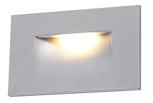- Cloudy Bay 120V LED Step Light,Indoor Outdoor Stairway Deck lighting,3000K Warm White Stair Light,Silver Finish