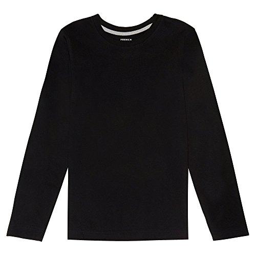 - French Toast Boys' Long Sleeve Crewneck Tee T-Shirt, Black, 18M,Baby