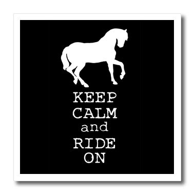 EvaDane-Funny-Quotes-Keep-calm-and-ride-on-Black-and-White-Iron-on-Heat-Transfers