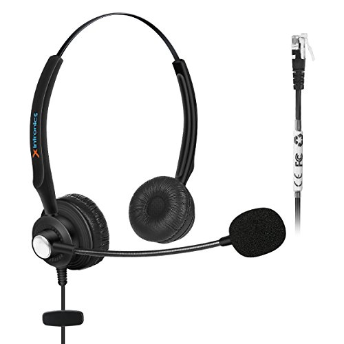 Fivetech Corded Headset w/ Noise Canceling Mic for NEC Aspire Dterm Nortel Norstar Meridian Plantronics Polycom ShoreTel Siemens ROLM Toshiba Zultys Packet8