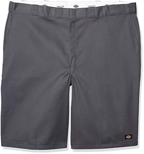 Dickies Men's 13 Inch Loose Fit Multi-Pocket Work Short, Charcoal, 36