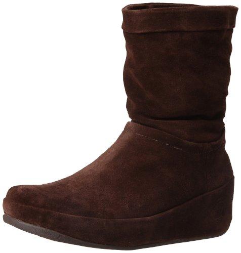 Fitflop Crush Boot - Botines plataforma, color: marrón marrón - Chocolate