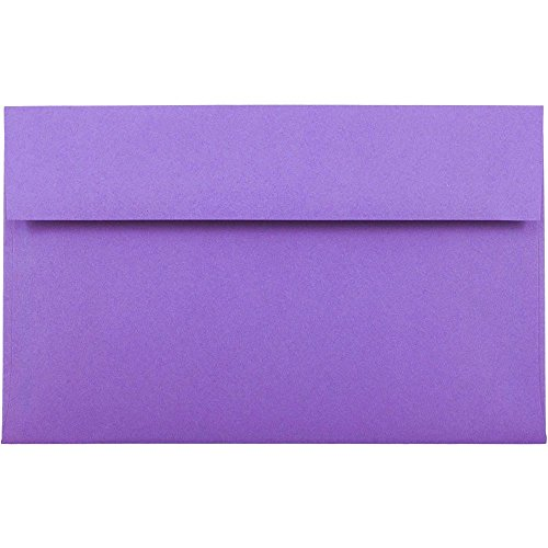 (JAM PAPER A10 Colored Invitation Envelopes - 6 x 9 1/2 - Violet Purple Recycled - 50/Pack)