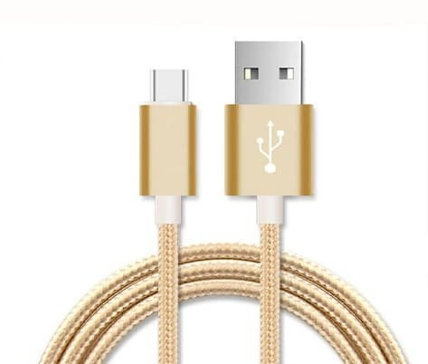 I 705 Usb Cable - I-Sonite (Gold) Premium Quality [ 2 METER ] USB Micro-USB Cable Nylon Braided Fast Charging and Data Transfer Cable For Asus Zenfone Go Zb552Kl