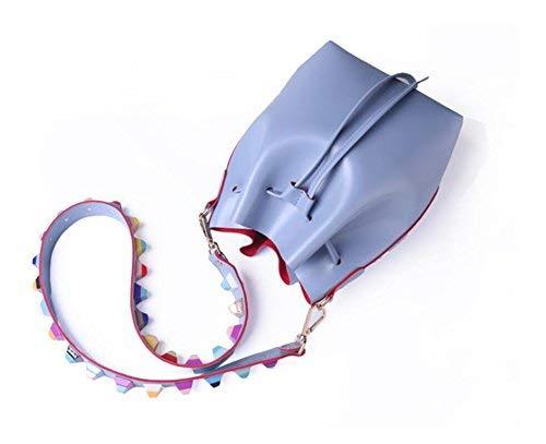 Simple Bolso de Bombeo Azul Hombro Azul de Mano Bolso Eeayyygch Bolso Color tamaño de Caqui IAqwZvZtU
