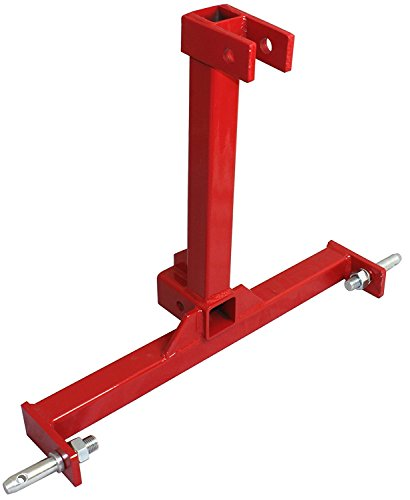 (3 Point Trailer Hitch Adapter Category 1 Drawbar Tractor Trailer 2'' Hitch Receiver 3 Point Attachment)