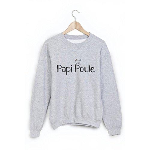 Sweat-Shirt citation Papi poule ref 1804 - S