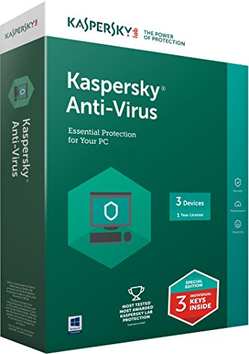Kaspersky Antivirus Latest Version - 3 Users, 1 Year (3 Individual keys, 1 CD) (Special Edition) (Chance to win Rs.1000 Amazon Gift voucher)