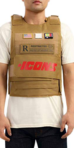 Hudson Outerwear Icons Vest (OSFA, Beige) (Swat Vest For Women)