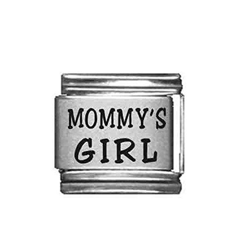 (SEXY SPARKLES Mommy's Girl Italian Link Bracelet Charm)