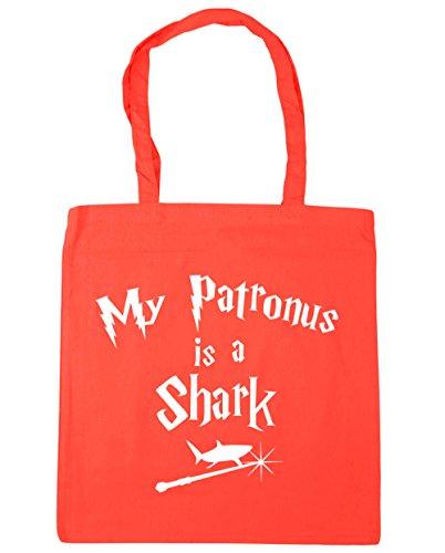 x38cm Gym HippoWarehouse Is Patronus 10 Beach Shark 42cm Bag Shopping A My Tote litres Coral TTP0qB
