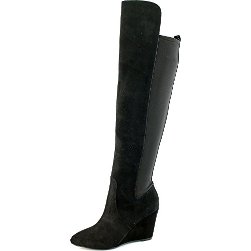 Women's Suede David Charles Boots Black Lycra Edie Charles Zip by wXqqET0