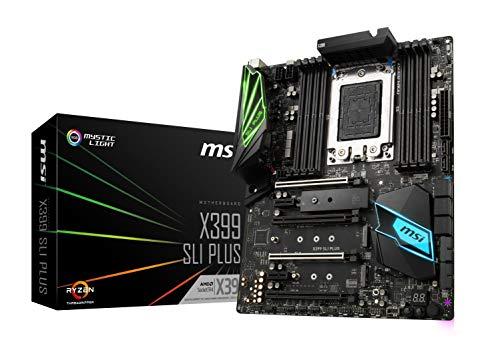 MSI X399 SLI Plus Gaming AMD Ryzen ThreadRipper DDR4 VR Ready HDMI USB 3 SLI Crossfire ATX Motherboard (Msi Sli Motherboard)