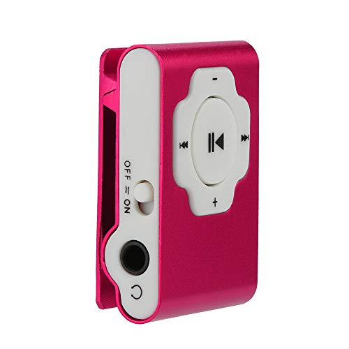 MP3 Player, Tuscom Mini Portable USB MP3 Player Support Micro SD TF Card 32GB, Clip Music Player, MP4 Player, Video/Media/Music Player for Sport and Music Lovers (Hot Pink)