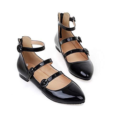 Femme Noir Compensées Sandales DGU00601 AN fCqXw6Y6x