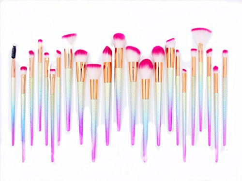 Makeup Brushes Set Colorful 24Pcs Fantasy Set Professional Foundation Powder Eyeshadow Blending Concealer Cosmetics Tools Brushes Kit