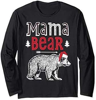 Amazon.com: Mama Bear pijama T Shirt familia a juego de Papá ...