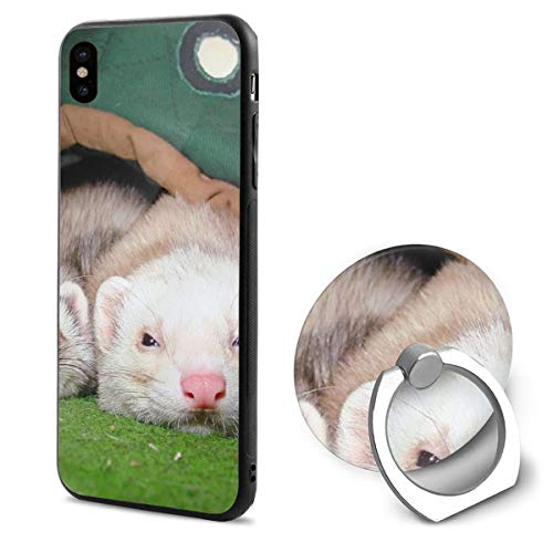 (Ferrets Couple Sleeping IphoneX case with Ring Stand Soft TPU Slim Case Cover for iPhone X)