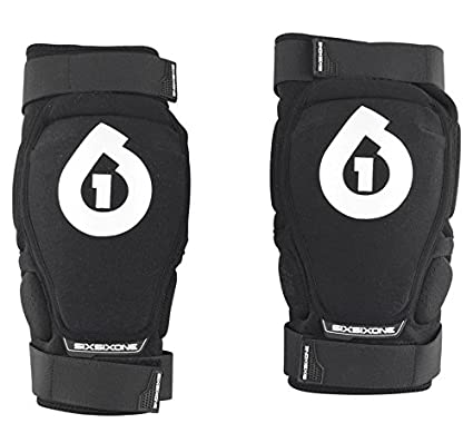 six six one Rage Hard Knee Guard (Black, Large) 7005-05-053