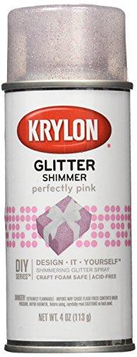 Krylon Glitter Aerosol Spray, 4-Ounce, Pink