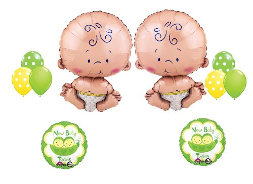 New Baby Twins! Welcome Baby Shower Ballon Party Supply (Twin Baby Shower)
