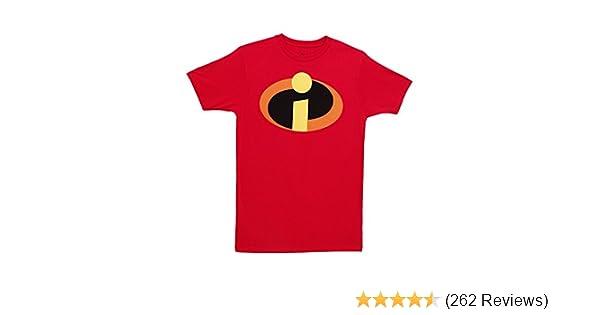 dd46a073c Amazon.com: Disney Pixar The Incredibles Logo T-Shirt: Clothing