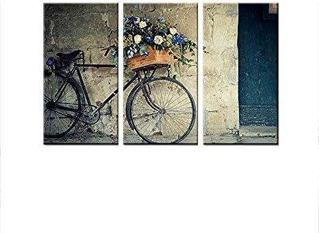 Pintura de pared Bicicleta Estirado Micro Spray pintado moderno ...
