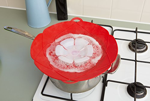 HomePop Boil Over Spill Stopper 12 Inch Red