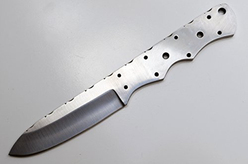 Whole Earth Supply Drop Point D-2 Steel Knife Blank Blade Hunting Skinning Skinner ()