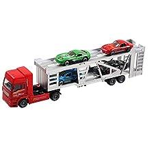 Aivtalk Transport Trailer Car Carrier Truck Toy for Boys (includes 4 Cars) - Multicolor