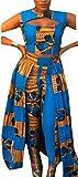 Qiangjinjiu Women's Africa Dashiki Print Crop Top and Pants Two-Piece Dress As Picture XL