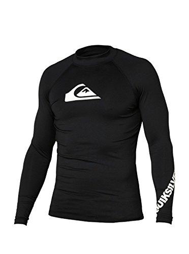 Quiksilver Men's All Time Long Sleeve Rashguard, Black/White, XX-Large -