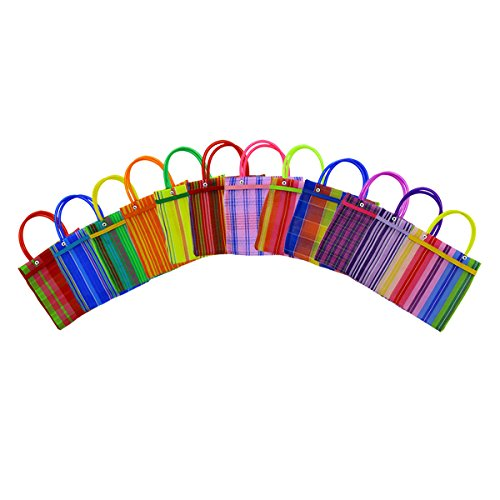 LYTIO Colorful Traditional Mexican Bag Mesh Tote for Fiesta Decoration (10-Pack) by LYTIO