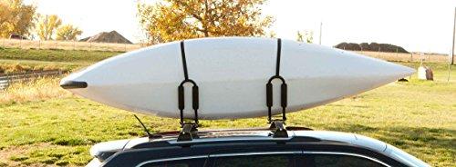 ABN Kayak Roof Rack J Rack Mounted Roof Top Carrier – Kayak, Canoe, SUP, Ski, Surf J Bar Vehicle Attachment Holder
