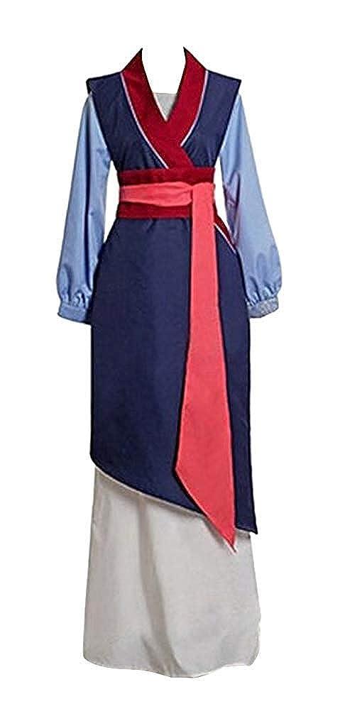 The cos world Hua Mulan Vestido Azul Princesa Vestido película ...