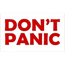 CafePress - Don't Panic Rectangle Sticker - Rectangle Bumper Sticker Car Decal