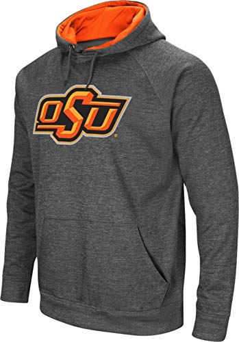 Colosseum New Men's Oklahoma State Cowboys Grey Fleece Pullover Hoodie Large ()