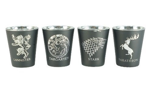 Rabbit Tanaka Game of Thrones House Sigil Shot Glass Set (Set of 4) by Rabbit Tanaka