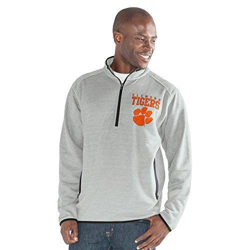 NCAA Herren 1auf 1Quarter Zip Fashion Top, herren, 1 on 1 Quarter Zip Fashion Top, grau meliert, 4X-Large