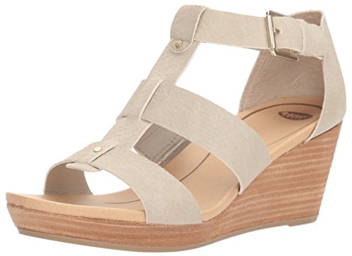 Dr. Scholl's Shoes Women's Barton Wedge Sandal, Grey Snake Print, 7.5 M US