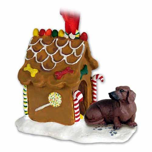 Conversation Concepts Dachshund Gingerbread House Ornament - Red