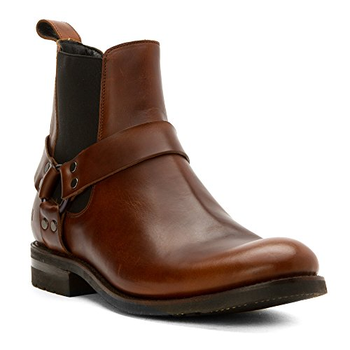 FRYE Men's Stone Harness Chelsea Motorcycle Boot, Whiskey, 10 D US