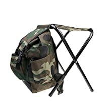 MagiDeal 2 in 1 Fishing Stool Tackle Backpack Seat Chair Hunting Tear-Resistance Bag