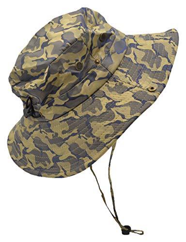Outdoor Summer Boonie Hat for Hiking, Camping, Fishing, Operator Floppy Military Camo Sun Cap for Men or Women (Khaki (Dark Camo))